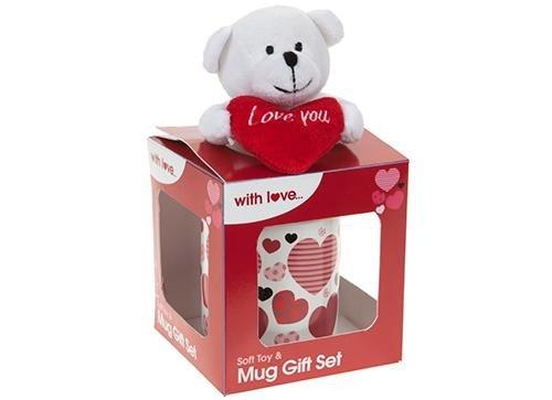 Hug in a Mug - 9 cm Teddy Holding