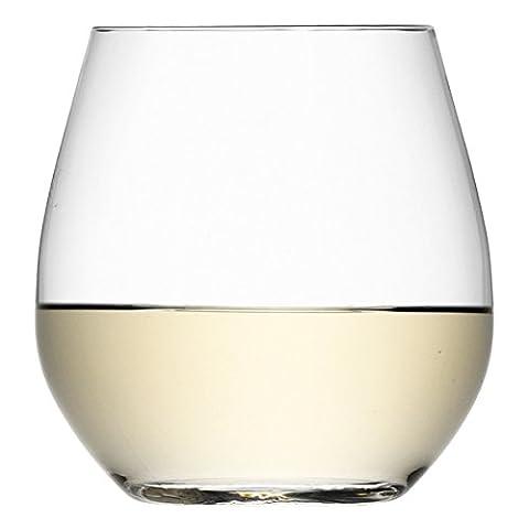 LSA Wine Collection Stemless White Wine Glasses 13oz / 370ml