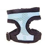 Balock Schuhe Verstellbares Hundegeschirr, Komfort-Soft-Mesh-Geschirr für Welpen, atmungsaktives Haustier-Weste-Geschirr Kleine Hunde Katzen,4 Farbe (Himmelblau, XS)