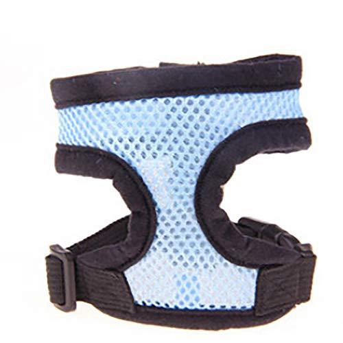 Balock Schuhe Verstellbares Hundegeschirr, Komfort-Soft-Mesh-Geschirr für Welpen, atmungsaktives Haustier-Weste-Geschirr Kleine Hunde Katzen,4 Farbe (Himmelblau, M) -