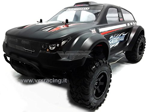 Vrx rattlesnake n2 1/10 off road con motore a scoppio go.18 a 2 marce radio 2.4ghz 4 wd rtr