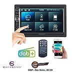 CREASONO Autoradios: 2-DIN-DAB+/FM-Autoradio, Touchdisplay, Bluetooth, Freisprecher, 4x45 W (Autoradio DAB+ 2DIN)