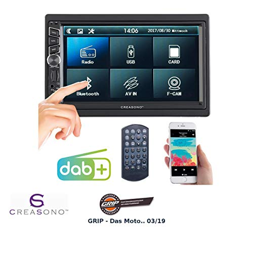 : 2-DIN-DAB+/FM-Autoradio, Touchdisplay, Bluetooth, Freisprecher, 4x45 W (Autoradio 2DIN) ()