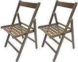 2 sedie pieghevole sedia birreria in legno noce richiudibile per campeggio casa