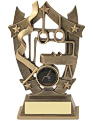 JR12-RF484 Gymnastic Resin trophy award With A Centre Resin  UNLIMITED FREE ENGRAVING by awardboardtrophies.co.uk