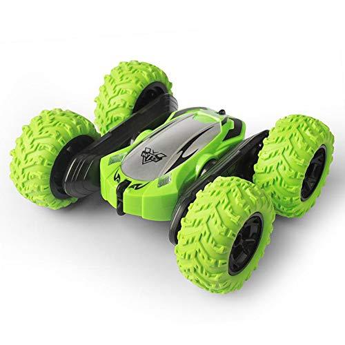 WXIAORONG Remote RC Car, Control Tracks mit 2,4GHZ Controlled Toy 4WD High Speed Climb Bigfoot Twist für Kinder und Erwachsene, Double Sided 360 Grad Flips,Green (Rc Track Car Race)