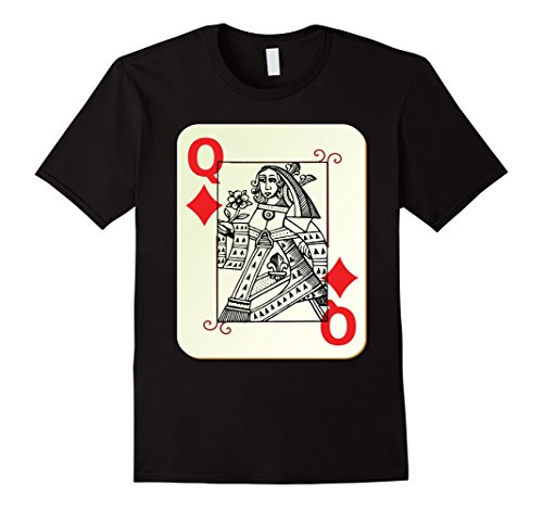 Costume Card Playing Queen (Queen of Diamonds Playing Card Costume Tshirt Herren, Größe 3XL)
