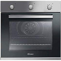 Candy FCP602X Forno Elettrico da Incasso Ventilato con Grill, Capacità 65 Litri, A+, Acciaio inossidabile e vetro, Argento/Nero