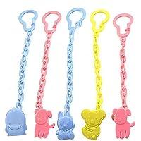 5pcs Goldore Baby Plastica ciuccio clip di Infant catena di sicurezza portasucchietto fibbia