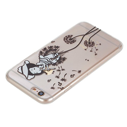 iPhone 6s Plus 5.5 Custodia Cover Silicone,Slynmax Sottile TPU Case Morbido Flessibile Gel Transparent Silicone Bumper Protettivo Skin per iPhone 6s Plus 5.5 Slim Cover Trasparente Caso Chiaro Cristal Dente di leone