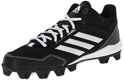 adidas Performance Men 's Wheelhouse Mid Baseball Brillen Leuchten bei, Core Black/Running White/Metallic/Silver, 6.5M US, Mehrfarbig - Core Black/Running White/Metallic/Silver - Größe: 7.5 D(M) US
