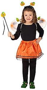 Carnival 06674-Juego Zucchetta para niña, compuesto de falda y alas y diadema y varita, altura 20x 50cm, de sobre