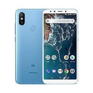 """Xiaomi Mi A2 - Smartphone Android One (Pantalla FHD de 5,99"""", Qualcomm Snapdragon 660 a 2,2 GHz, RAM de 6 GB, ROM de 128 GB y cámara dual de 12 + 20 MP) Color azul [Versión española]"""