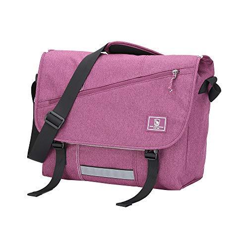 OIWAS Leinwand Messenger Bag Pack-Freizeit 38,1cm Laptop Schulter Umhängetasche Aktentasche Rucksack für Damen Herren Teens violett violett
