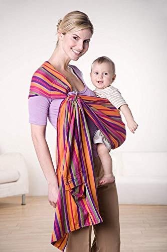 AMAZONAS Babytragetuch ohne Knoten Ring Sling Lollipop