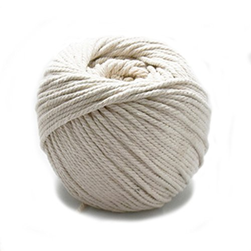 Makramee-Schnur 4mm X 110m (ca. 120 yd) natürliche Baumwolle handgemachte Dekorationen Makramee Wandbehänge Pflanze Kleiderbügel Häkeln DIY Handwerkstricken - Soft un-gefärbt Natural Beige Craft Rope