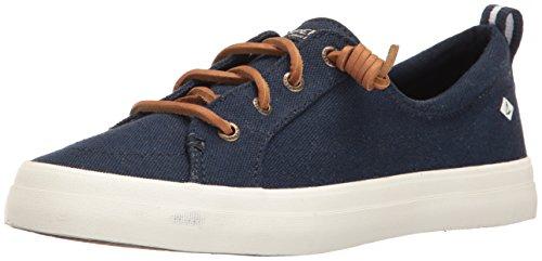 Sperry Boot (Sperry Damen Crest Vibe Wash Linen Navy Sneaker, Blau, 37.5 EU)