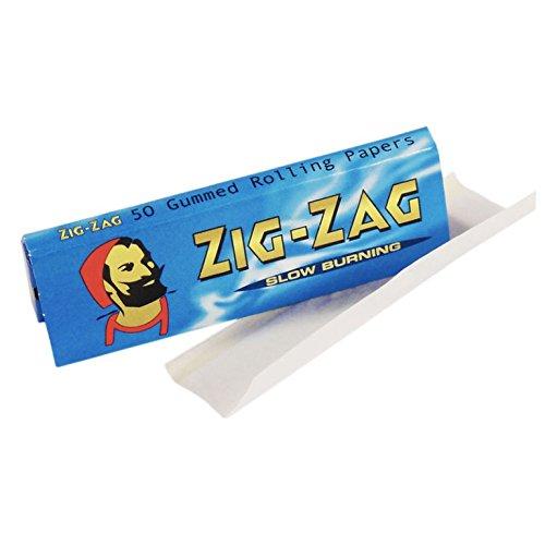 Zig Zag Grün/Blau/Rot/ungebleicht braun/Lakritz Standard Größe Papiere von Trendz