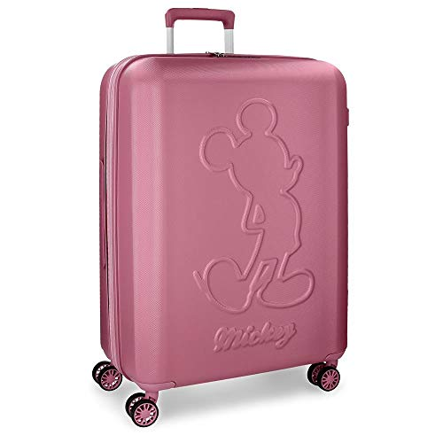 Mickey Premium Pink Big Rigid Trolley 68 cm