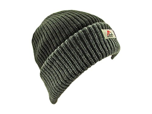 MJ Mckellee Mens/Womens Heavy Knit Winter/Ski Thermal Hat Grey Black