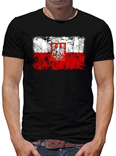 Polen Vintage Flagge Fahne T-Shirt Herren L Schwarz