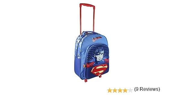 Enfants Superman effet 3D Bleu Junior Sac à dos