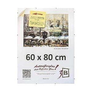3-B Rahmenloser Bildhalter mit Polyesterglas - Antireflex-Cliprahmen - 60 x 80 cm