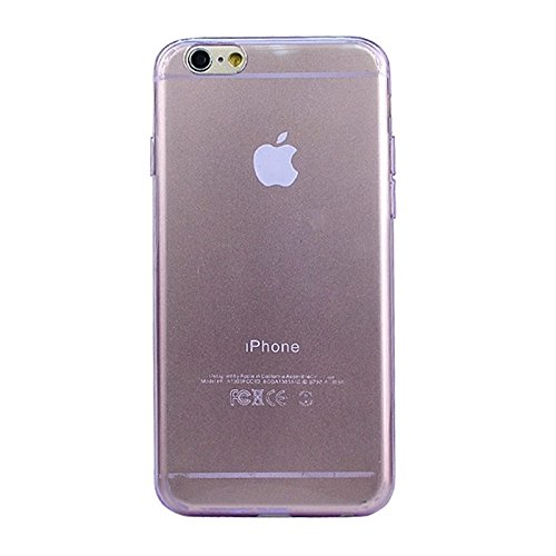 Phone case & Hülle Für IPhone 6 / 6S, 0.45mm ultra-dünner TPU Iphone Fall ( Color : Grey ) Purple