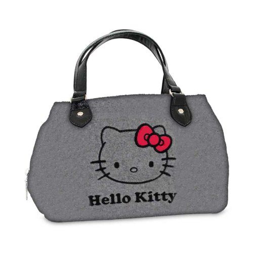 Sanrio Turnbeutel Hello Kitty Rot Bow Henkeltasche Grau HK.0205.00 (Hello Kitty Handtasche)