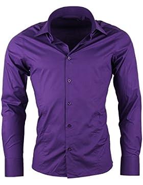 Redbridge by CIPO & BAXX Camicia a maniche lunghe da uomo, business