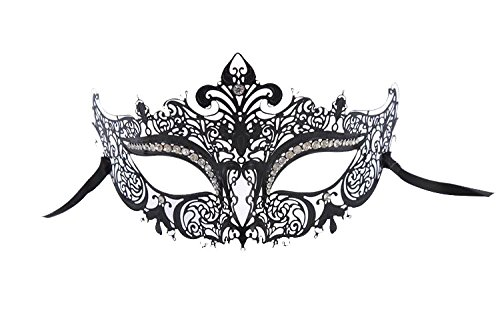 (Venezianische Venetianische Maske #2 Metall metal sehr hochwertige Stabile Maske Maskerade Karneval Fasching Verkleidung Kostüm Halloween Party Maskenball Ball Shades of Grey Mr Grey Mitternacht)