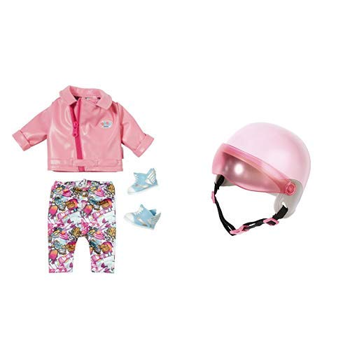 "Zapf Creation 825259"" Baby Born City Deluxe Scooter Outfit Puppe, bunt &  Creation 825914\"" Baby Born City Scooterhelm Puppe, bunt"