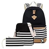 Canvas Student Backpack,USB Laptop Backpack