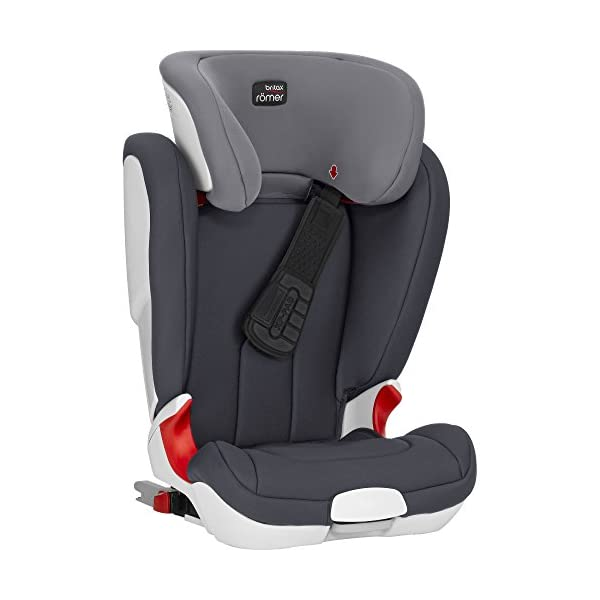 Britax Römer car seat Kidfix XP (SICT) Group 2/3. Britax Römer Front impact pad - XP, storm gray Shockproof side protection - MTS Codes High back for shock absorbing side protection and correct strap guide 47