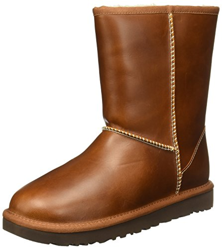 ugg-australia-womens-classic-short-brown-leather-boots-37-eu
