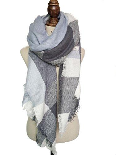 Vlunt Damen Winter klassische Schal lange weich Wraps grosse Schal