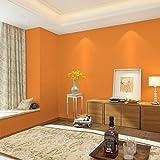 Papier Peint, Couleur Unie Revêtements muraux Orange Non tissés Épais Magasin de vêtements Papier Peint Mural Minimaliste Moderne, Couleur Unie
