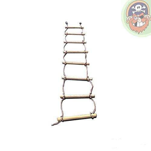 Strickleiter für Kinder mit 8 Holzsprossen Länge 290 cm von Gartenpirat®