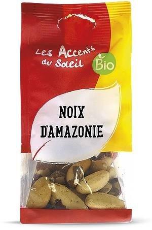 Paranuss Bio - roh Paranusskerne - Selen - unbehandelt - geschälte Paranuss | 125g | Les Accents du Soleil