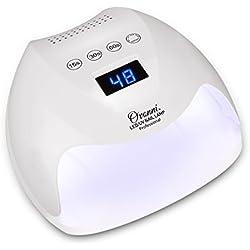 Ovonni 48W Lámpara LED UV Uñas profesional, Sensor automático incorporado, 3 Tipos de controles de tiempo, Esmaltes de Gel, Conveniente, Regalo, Viaje, Salón, Blanco4