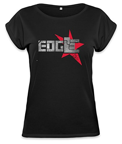 Edge Official Logotype Womens Continental Rolled Sleeve T-Shirt Medium (In Edge Der Wwe)