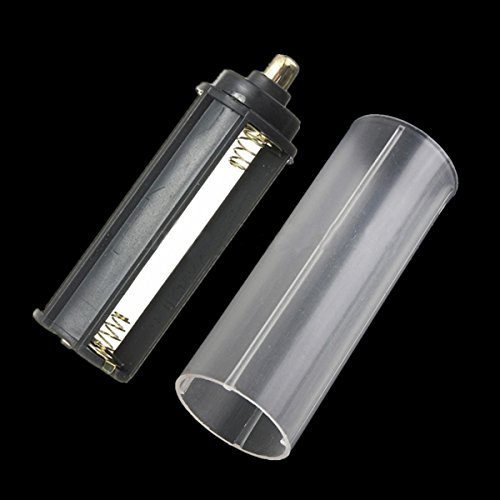 GOZAR 1Pcs Aaa Adapter + 1Pcs 18650 Tube Blanc Pour Torche À Lampe LED