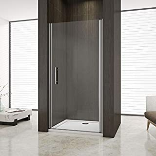 Aica Bathrooms 800mm Pivot Shower Enclosure Cubicle Door 6mm Glass, Metal Chrome