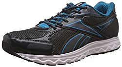 Reebok Mens United Runner 5.0 Grey, Blue, Black and White Running Shoes - 10 UK