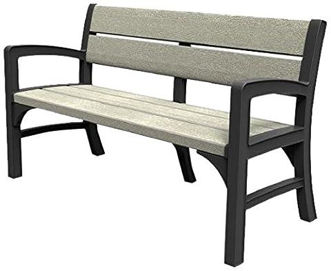 Allibert Lounge Sofa, WLF 3 seater bench, graphit / braungrau, 150 x 62 x 89.5 cm, 17204596