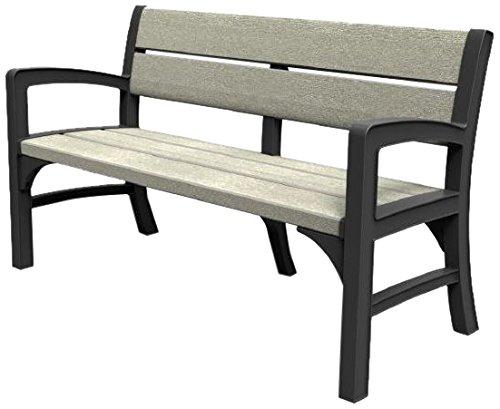 Allibert Lounge Sofa, WLF 3 seater bench, graphit/braungrau, 150 x 62 x 89.5 cm, 17204596