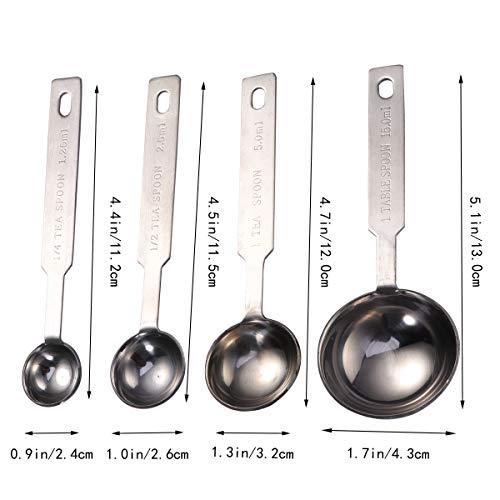 OUNONA Cuchara de t/é de caf/é de acero inoxidable para cucharada de leche y polvo