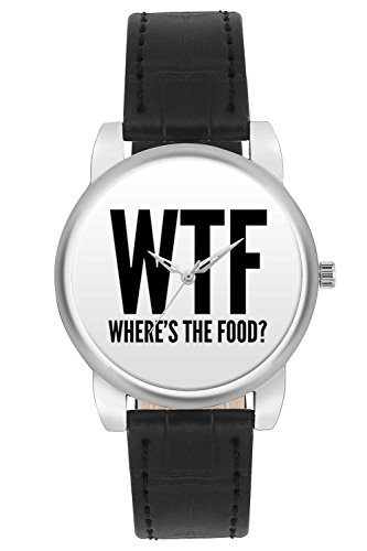 Women's Watch, BigOwl Where Is The Food Designer Analog Wrist Watch For Women - Gifts for her dials