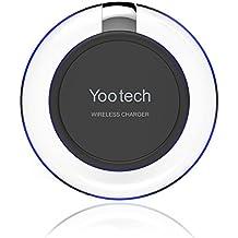 Cargador inalámbrico, YOOTECH Wireless Pad cargador para Samsung Galaxy S8/S8 Plus/S8 +, S7/S7 Edge, S6/S6 borde, nota 5, Google Nexus 4/5/6 y todos los dispositivos Qi [respiración LED]