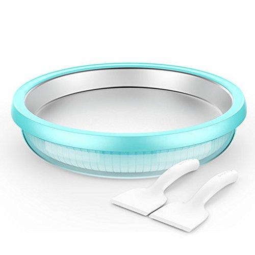 GYY Yogurteras KMMF suannaiji Yogurt Maker Niños Máquina de Helado Frito de Hielo Frito Manualmente Máquina de Helado pequeño hogar sin Electricidad (Color : Azul)